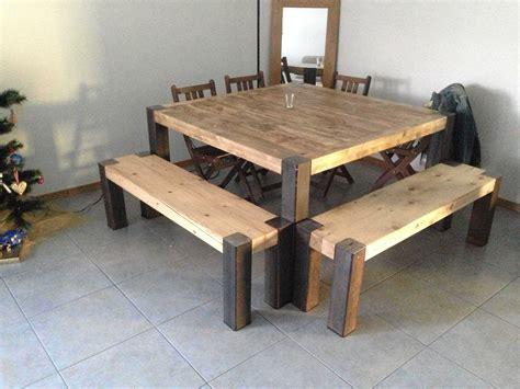 table cuisine palette table en lattes de palettes upcycled pallet planks table