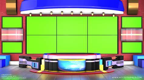 green screen virtual studio news desk mtc