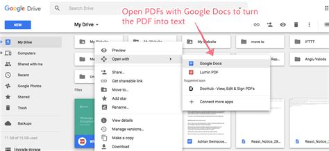 How to open pdf on google docs