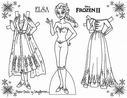 Elsa Dolls Paper Coloring Frozen Doll Cory