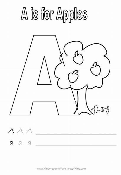 Worksheets Letter Alphabet Coloring Handwriting Kindergarten Practice