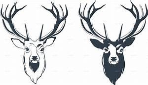 Reindeer Head Illustration | www.pixshark.com - Images ...