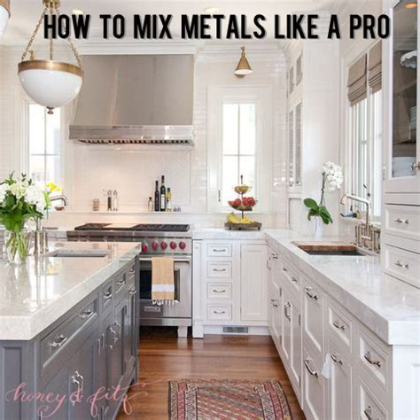 open floor plan farmhouse how to mix metals in a kitchen