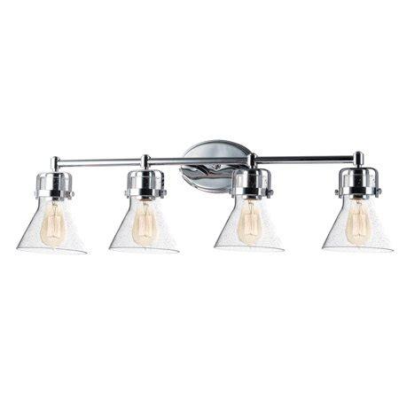 4 Bulb Bathroom Light Fixtures by Bathroom Vanity 4 Light Bulb Fixture With Polished Chrome