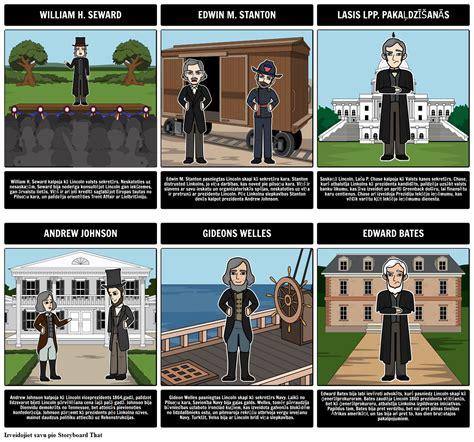 Lincoln Kabineta Galvenie Skaitļi: Mini Biogrāfija