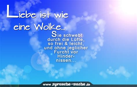 Liebe Ist Wie Eine Wolke... Sie Schwebt Durch Die Lüfte, So Frei & Leicht, Und Ohne