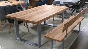 Eiche Massiv Tisch : esstisch 2580 tisch baumkantentisch eiche massiv ge lt 200 ~ Eleganceandgraceweddings.com Haus und Dekorationen