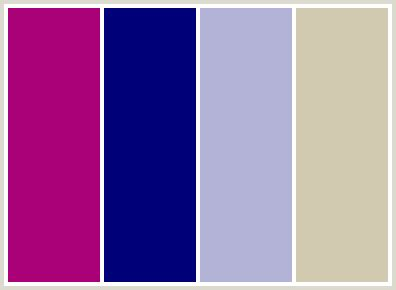 colors that go with magenta colorcombo28 with hex colors aa0078 000078 b3b3d7 d1cab0
