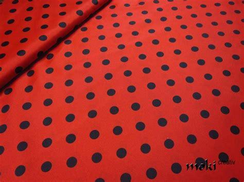 karnevalsstoff punkte rot schwarz gepunktet mm