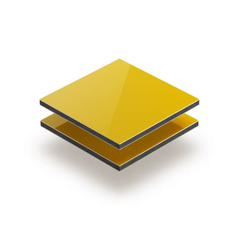 panneau composite aluminium 3mm jaune plaqueplastique fr