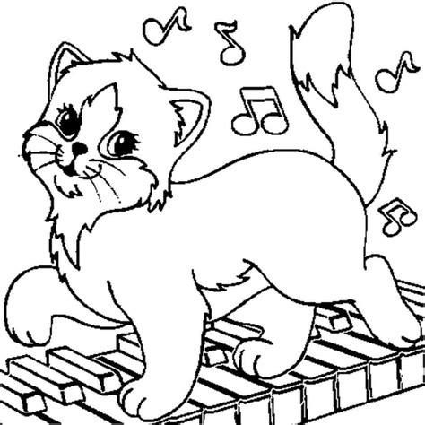 Chat Musicien  Coloriage Chat Musicien En Ligne Gratuit A