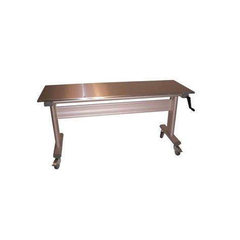 table hauteur réglable table inox ergonomique hauteur r 233 glable