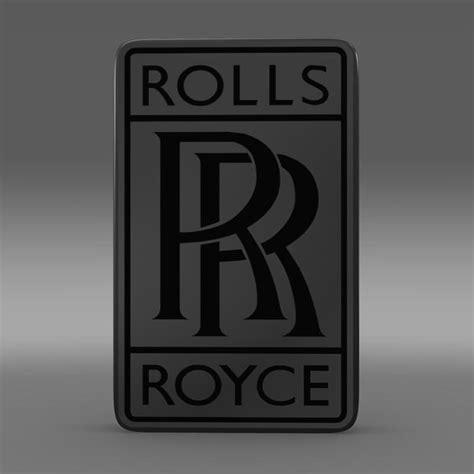 rolls royce logo vector rolls royce logo 3d model max obj 3ds fbx c4d lwo