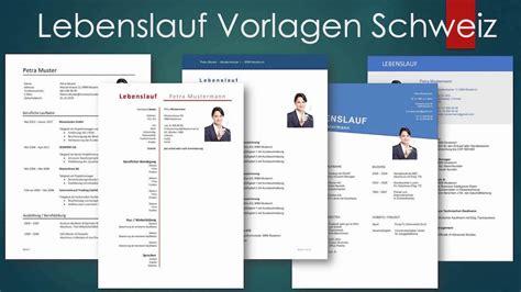 Vorlage Lebenslauf Gratis by Vorlage Lebenslauf Schweiz Kostenlose Vorlagen Muster