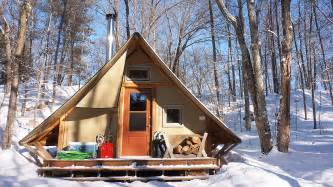 free small cabin plans 270 sq ft grid prospector style tent