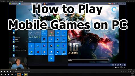 play mobile games  pc youtube