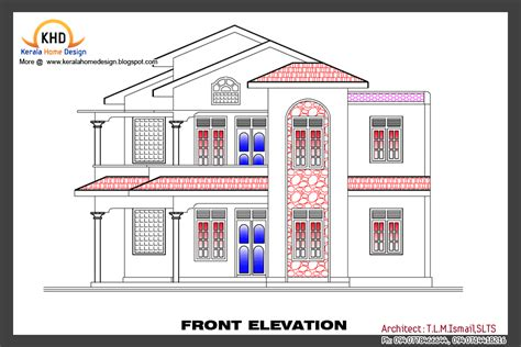 elevation of house plan home plan and elevation kerala home design and floor plans