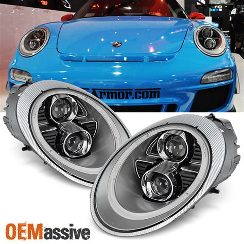 porsche 918 headlights new silver 2005 2012 porsche 911 997 carrera gt3 led drl