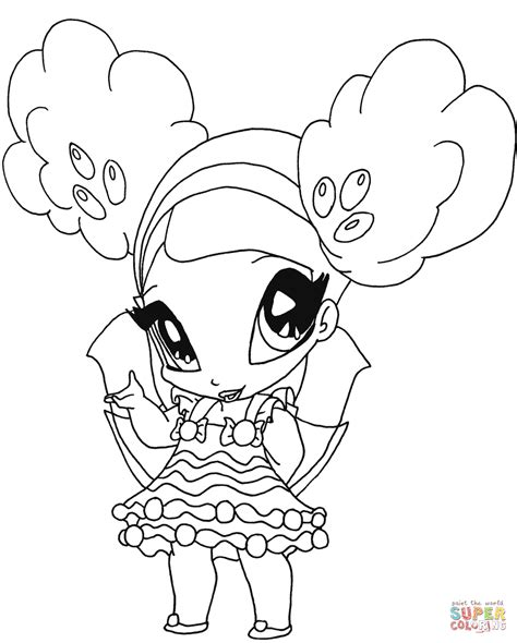 Kleurplaat Poppixie by Winx Club Pixies Coloring Pages Coloring Home