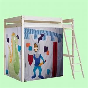 Lit Cabane Mezzanine : lit mezzanine avec t te 1 photo de cabane pour les enfants une terre de r ves ~ Melissatoandfro.com Idées de Décoration