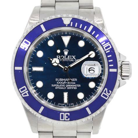 bvlgari bvlgari rolex 16610 submariner blue bezel blue