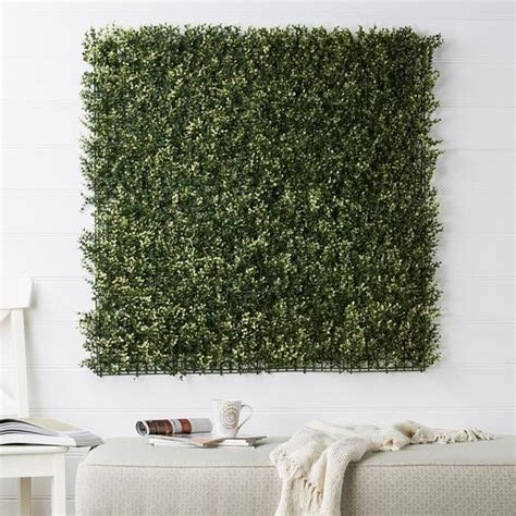 artificial boxwood green wall panel  evergreen direct
