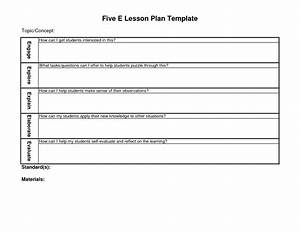5 e lesson plan template blank lesson plan template With learning cycle lesson plan template