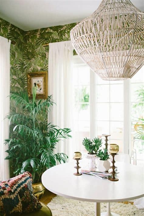 ideen fuer stilvolle tropische inneneinrichtung