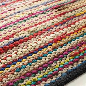 Kinderteppich 160 X 230 : alfombra trenzada de algod n de colores 160 x 230 cm roulotte maisons du monde ~ Watch28wear.com Haus und Dekorationen