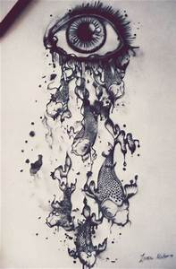 Eye dripping with koi fish | Drawing | Pinterest | Eyes ...