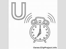 Uhr Ausmalbild Buchstaben zum Ausmalen gratis