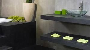 Beton Pour Plan De Travail : peinture effet b ton pour repeindre du carrelage ~ Premium-room.com Idées de Décoration