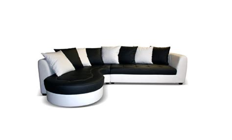 h et h canapé canape d 39 angle à gauche haricot blanc noir