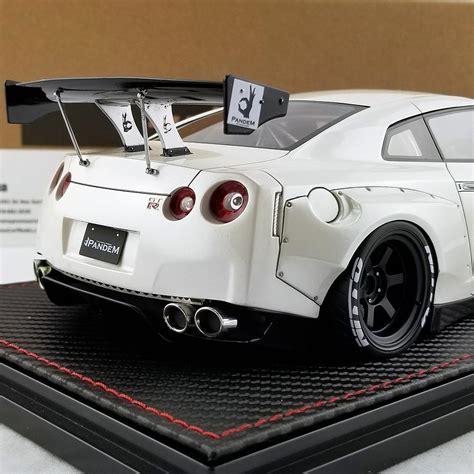 ignition  nissan pandem  gt  white resin model car