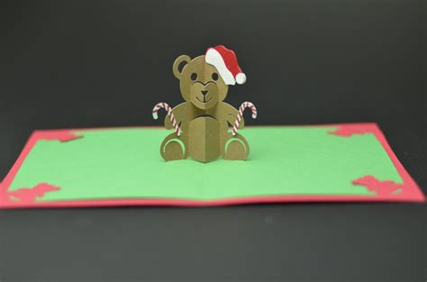 creative pop up cards templates free teddy pop up card template