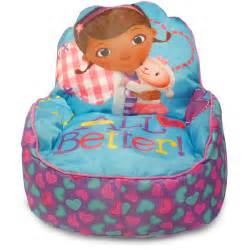 disney doc mcstuffins toddler bean bag sofa chair multi