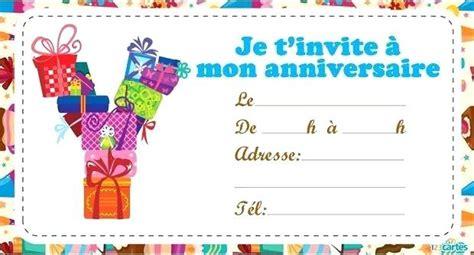 Carte D'invitation Anniversaire Garcon 6 Ans A Imprimer