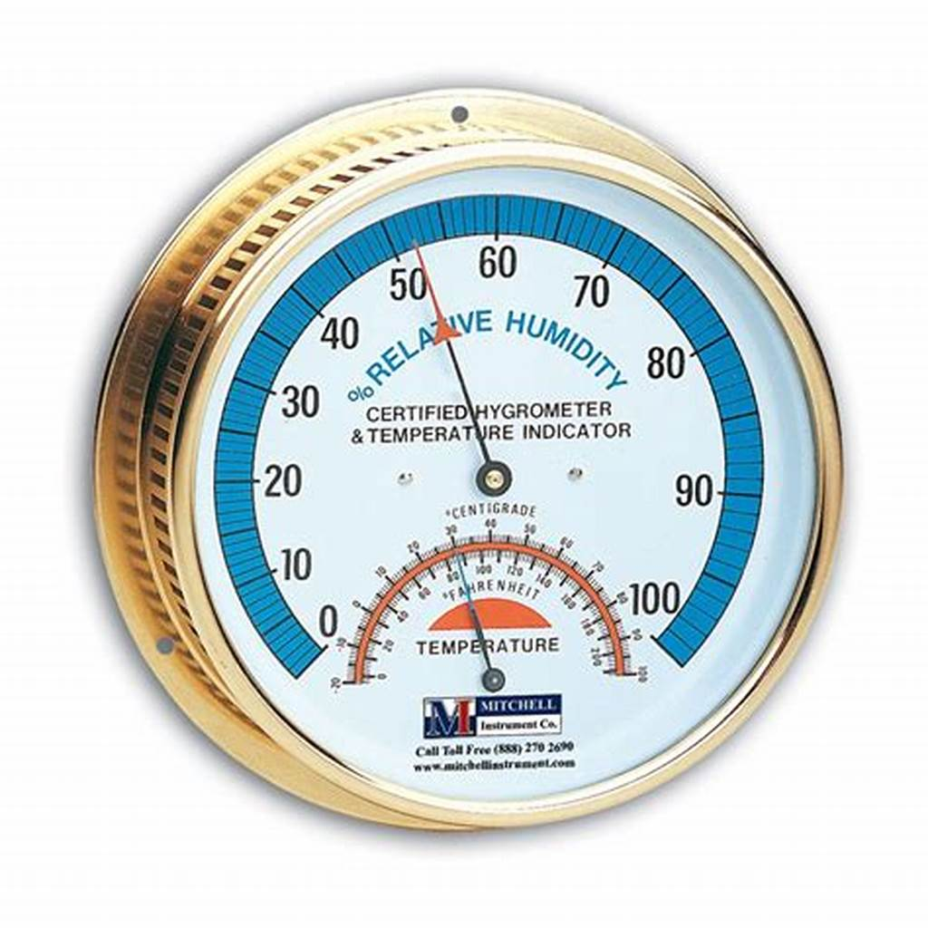 #Premium #Nist #Traceable #Brass #Wall #Hygrometer #And