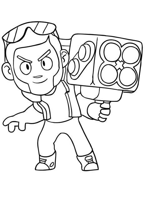disegni da colorare brawl brock from brawl coloring page