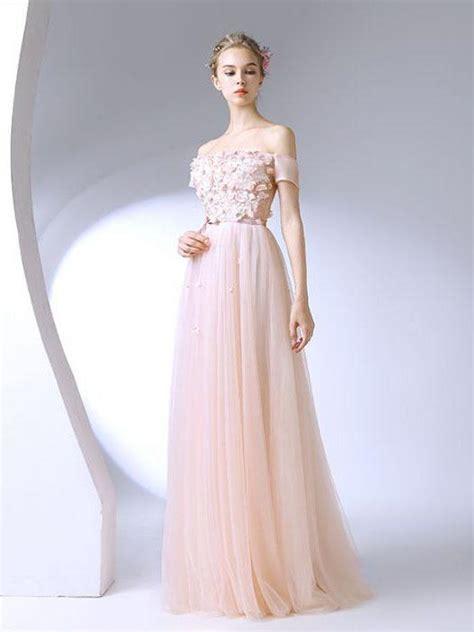 beautiful prom dresses   shoulder   floor