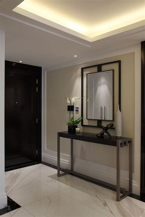 Living Room Entryway Design by Balston Photography Ebury Square Apartment