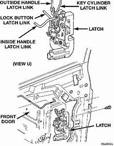 Dodge Door Latch  U0026 Remove Inside Door Latch Cover 1993