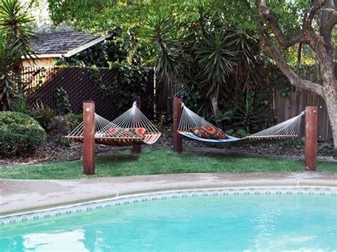 Hammock Area by 16 Heavenly Backyard Hammock Designs