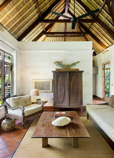 indonesian bali style homes images  pinterest