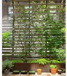 cloison de terrasse idees de design d39interieur With nice eclairage exterieur maison contemporaine 17 decoration jardiniere balcon