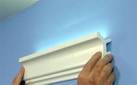 easy inexpensive cove lighting  foam crown molding