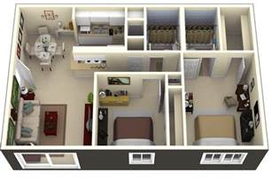 2 bedroom home plans 50 3d floor plans lay out designs for 2 bedroom house or apartment