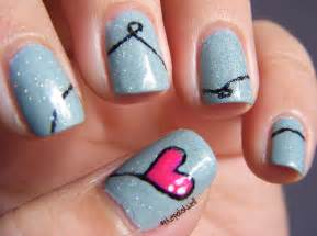Heart nail art designs for love nails