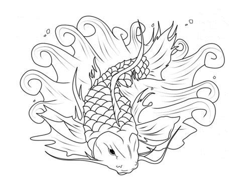 koi fish coloring page printable fish coloring page