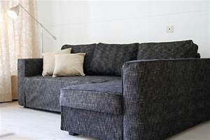 custom ikea manstad sofa bed cover snug fit in nomad black With disassemble ikea sofa bed